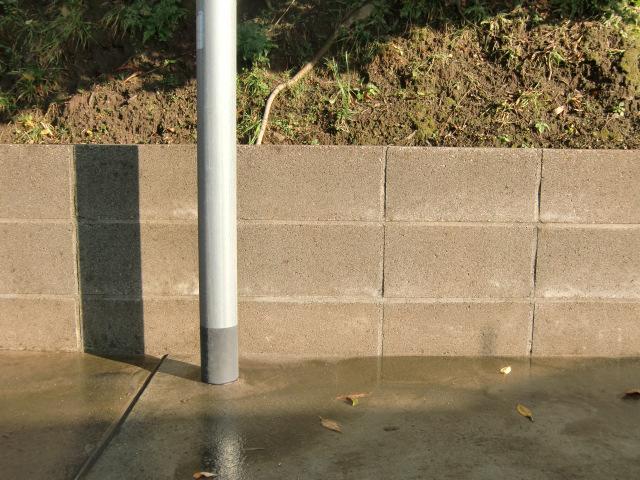 コンクリートブロック洗浄後