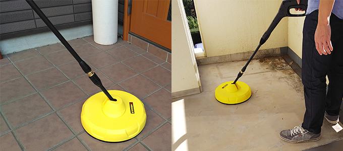 玄関ポーチやベランダ清掃にも