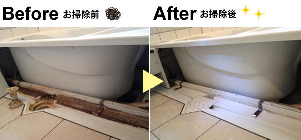 浴槽下のエプロンカバー